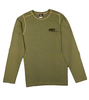 Hanes Long Sleeve T-Shirt in Green