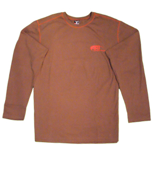 Hanes Long Sleeve T-Shirt in Chocolate Brown