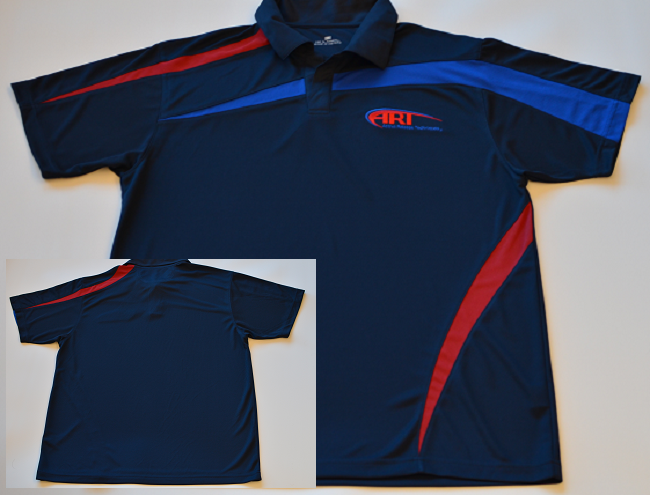 A Dri-Fit Navy Swirl Polo